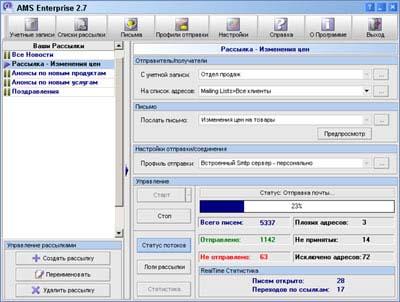 Программа AMS Enterprise