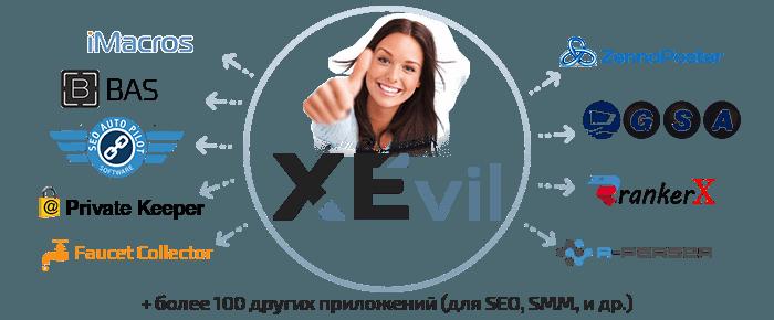 XEvil разгадывает каптчу не только в Xrumer, но и в любом другом SEO или SMM-софте и сервисах